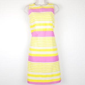 Loft Sheath Dress Striped Sz 6